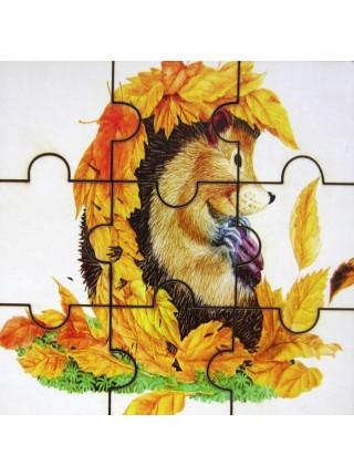 Пазл Ежик в листьях , Smile Decor П008