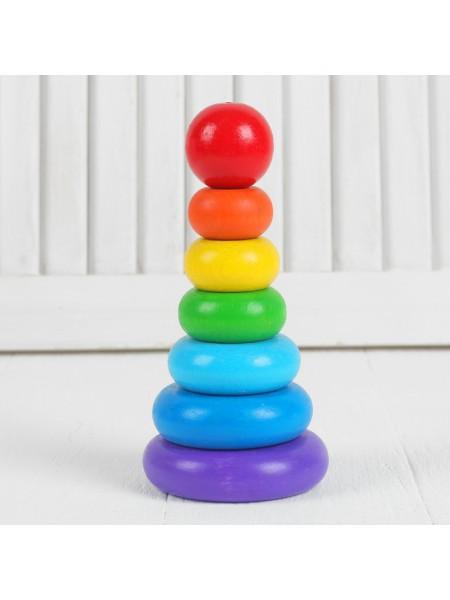 Пирамидка Семицветик, Краснокамская игрушка ПИР-11