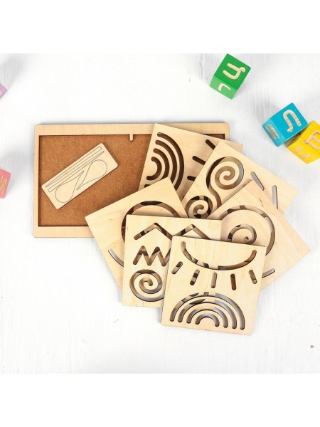 Межполушарная доска «Круг», woodland toys 134101
