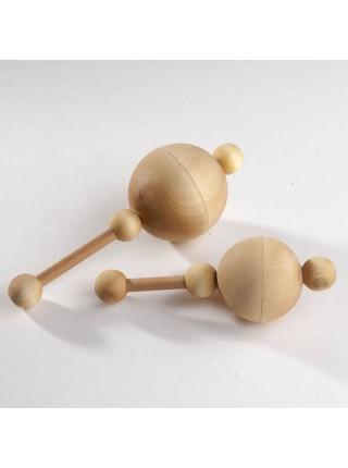 Маракас с горохом - Деревянная погремушка Леснушки L0311