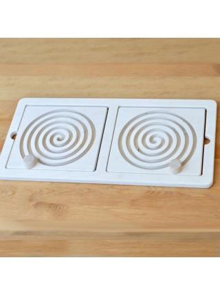 Межполушарная доска Спираль со съемными вкладками, Радуга кидс