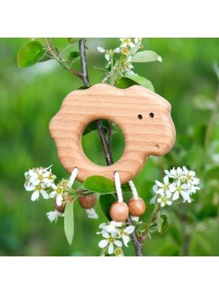 """Погремушка - Грызунок """"Ягненок"""" (Натуральное дерево)"""