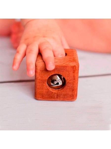 Кубик с бубенцом буковый, Леснушки L0502