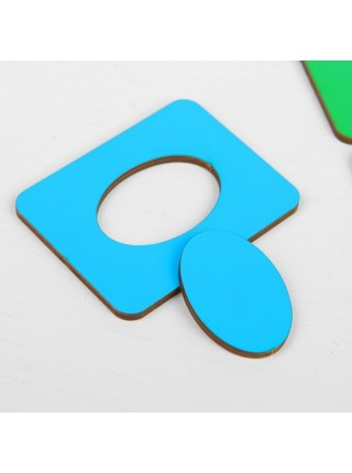 Досочки Сегена - 1 (цветные) WoodLand Toys