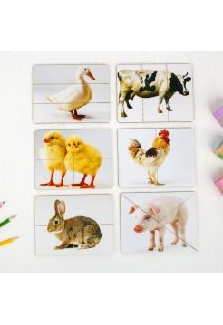 """Разрезные картинки вкладыши """"Домашние животные"""" Smile Decor Р012"""