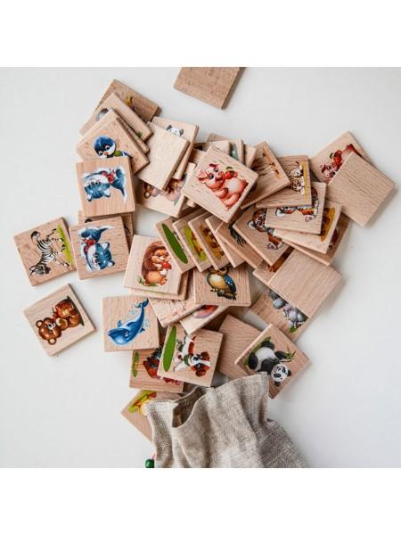 Мемори «Мир животных» в мешочке, Царицынская игрушка (Радуга Кидс) CI-ME004
