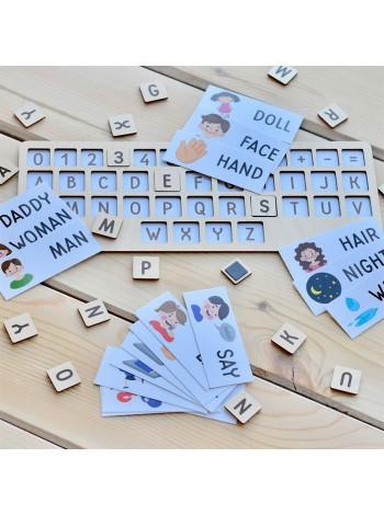 Английская раскладка + 40 карточек, купить