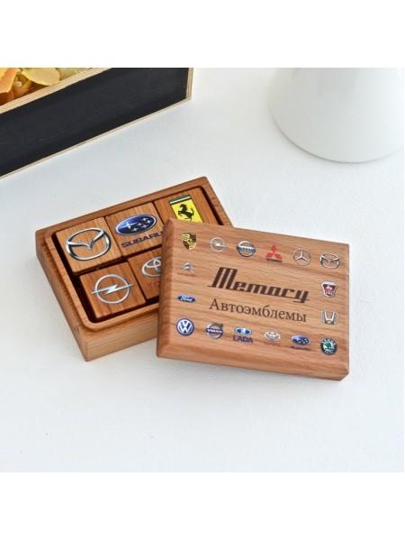 Мемори «Авто эмблемы» в деревянной коробочке Царицынская игрушка (Радуга Кидс) CI-ME005