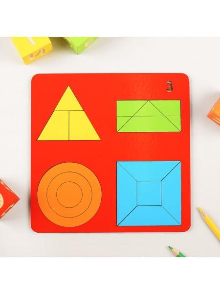 Геометрические головоломки для детей «Веселая геометрия» №3, Оксва