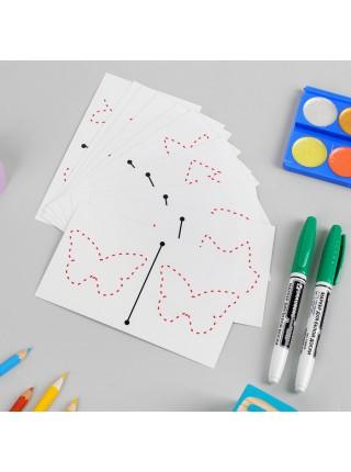 Многоразовые карточки для рисования двумя руками, Smile Decor Ф275