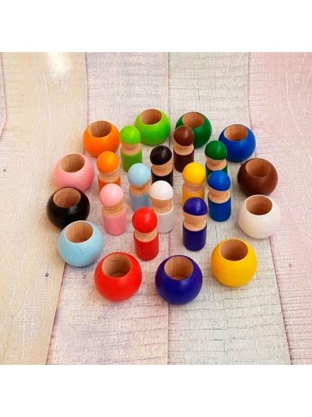 Развивающая игрушка Гномики в горшочках, Леснушки L0731