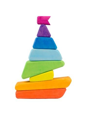 Деревянная Пирамидка Сказки дерева Кораблик (16001) - купить в интернет магазине умныйслон.рф