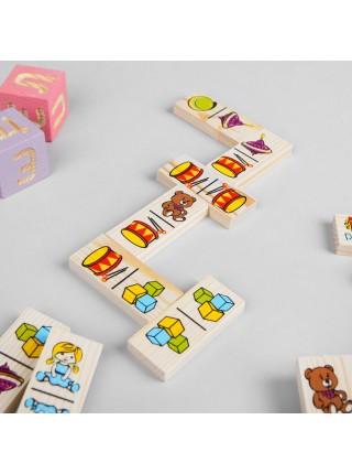 Настольная игра домино Игрушки, Томик 5555-3