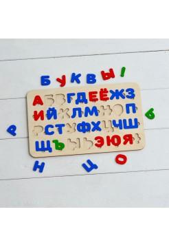 Рамка вкладыш Цветная Азбука (Алфавит) Радуга Кидс