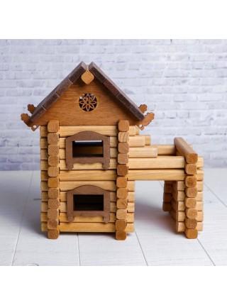 Деревянный конструктор Терем, Томик 1-23, 98 деталей