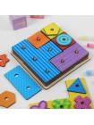 Логическая геометрия, головоломка квадрат Тетрис (с карточками) купить