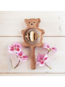 Деревянная погремушка Медвежонок, Леснушки L0315 (Натуральное дерево)