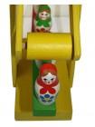 Деревянная игрушка Карусель с матрешками купить