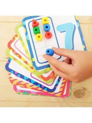Игра шнуровка «Веселые Бусинки» с карточками