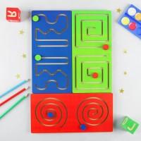 Лабиринт полушарные доски (набор 3 штуки) Мастер Игрушек IG0323