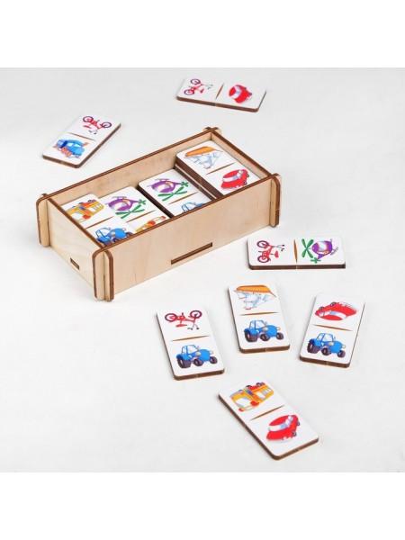 """Домино для малышей """"Транспорт"""", 28 элементов (крупные плашки)"""