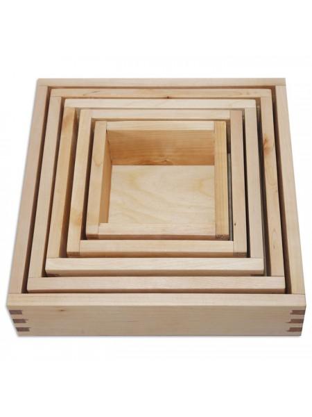 Вкладывающиеся коробочки по методике Монтессори