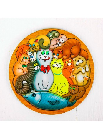 Деревянная Головоломка Коты - купить
