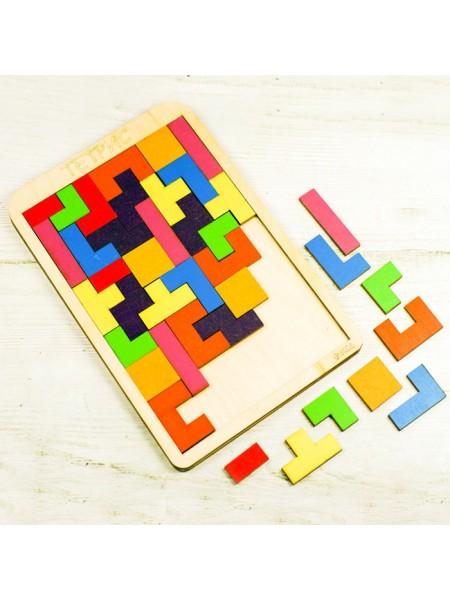 Тетрис деревянный - игра Головоломка