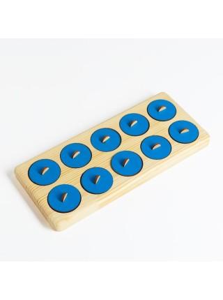 Тактильный планшет Монтессори, Smile Decor П615