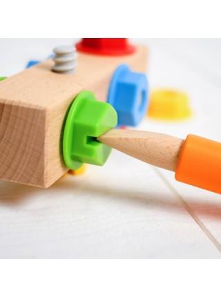 Сортер-брусочек «Болты и гайки», Мир деревянных игрушек