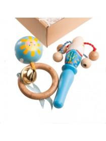 """Набор погремушек """"Морской мини"""" в подарочной коробке, Леснушки V0406pod"""