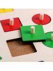 Деревянные вкладыши Геометрические формы, 16 элементов купить