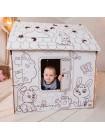 Дом раскраска из картона купить
