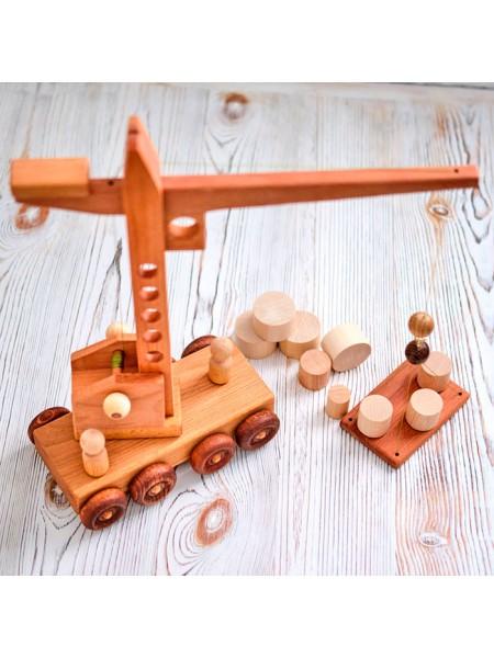 Подъемный кран игрушка в подарочной коробке, Леснушки