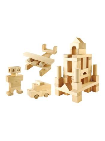 Конструктор строительный набор №2, 60 элемента купить