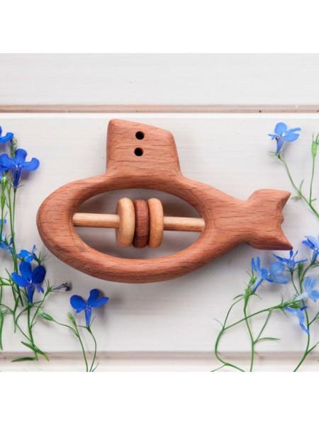 Погремушка - грызунок Подводная лодка, Леснушки
