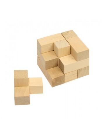 Головоломка Куб Пелси И632 - развивающая деревянная игрушка, 7 деталей купить в интернет магазине умныйслон.рф