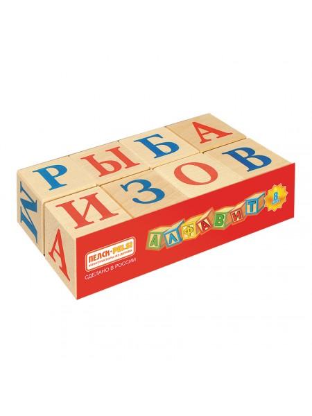 Кубики Алфавит, 8 шт Пелси ПИ667