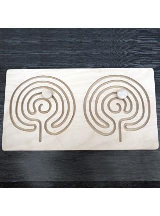 Межполушарная доска - деревянный лабиринт (мозг)