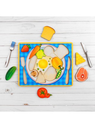 Головоломка рамка-вкладыш Завтрак