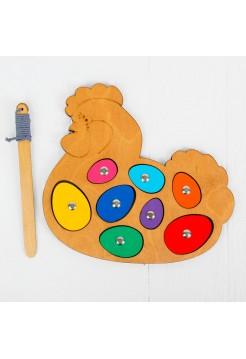 Игра с магнитами Курочка-несушка, Smile Decor Р018