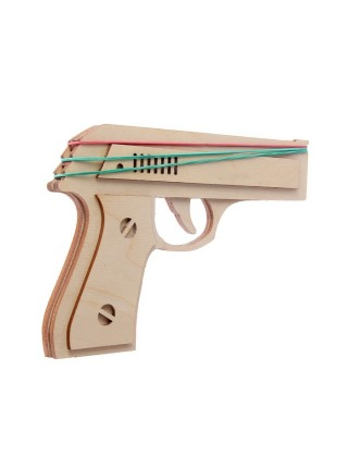 Пистолет Резинкострел из фанеры, собранный
