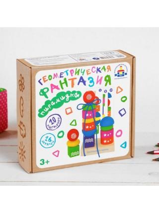 Пирамидка Геометрическая фантазия, Краснокамская игрушка ПИР-20