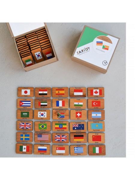 "Мемори ""Флаги мира"" в картонной коробочке (60 фишек)"