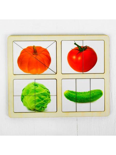 """Разрезные картинки """"Овощи-1"""", Smile Decor Р014"""