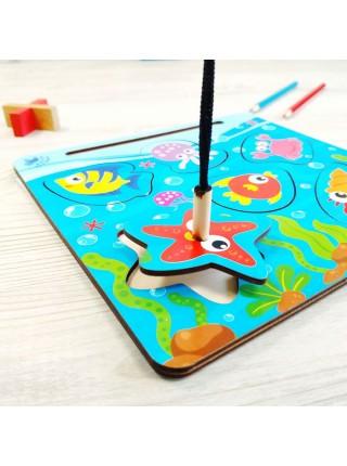 Магнитная рыбалка (Рамка-вкладыш) Морское дно, Мастер игрушек IG0196