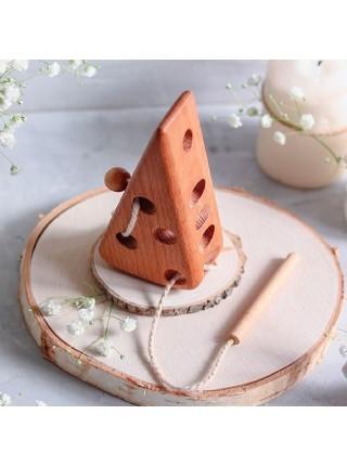 Шнуровка Сыр, (бук) Леснушки L0601
