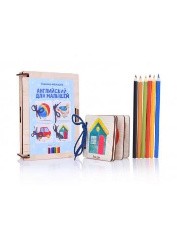 Деревянная Книжка-малышка Английский для малышей, Мастер Игрушек купить