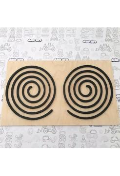 Графомоторные трафареты - Доска тренажер для письма (Грифельный трафарет Круг), Сенсорика