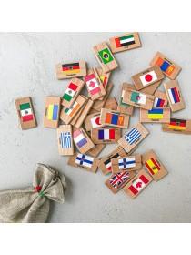 """Мемори """"Флаги мира"""" в льняном мешочке Царицынская игрушка (Радуга Кидс) CI-ME027"""